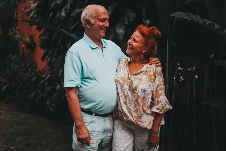 happy, couple, partners, elderly