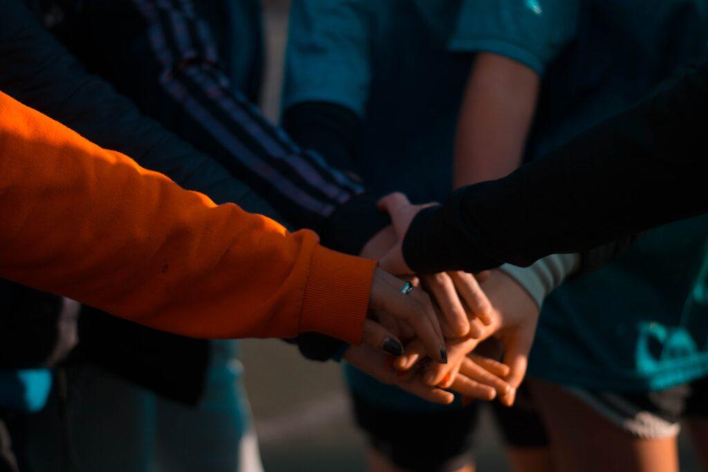 united, family, bonding
